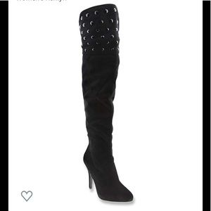 Nina Black Over the Knee Woman's Kenlyn Boots